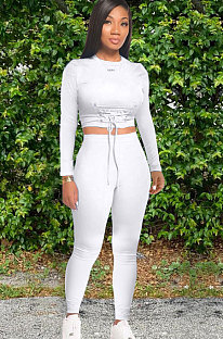 Casual Polyester Long Sleeve Tee Jumpsuit KSN8020