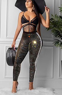 Sexy fashion side stripe sequins pantsMA6552