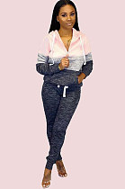 Осенне-зимняя одежда Color Block Top Bodycon Pants Set MDO9080