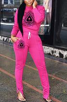 Повседневный спортивный простой барокко с длинным рукавом с круглым вырезом и талией, длинные брюки, комплекты HG059