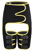 Sexy adjustable conjoined plastic belt movement abdominal girdle leg belt MNS2068