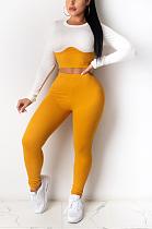 Casual Simplee Μακρυμάνικο Στρογγυλή λαιμόκοψη παντελόνι σετ παντελόνι TRS1071