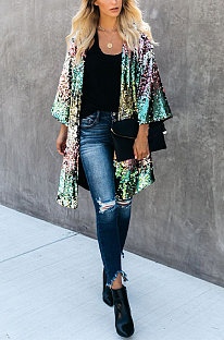 Cardigans Casual Luxe Simplee Sequins Demi Manches