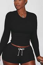 Terno casual de moda casual com gola redonda SY8690