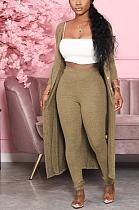 Conjuntos de calças skinny básicas casuais simplee manga comprida longline top WY6727
