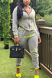 Casual Sporty Simplee Patchwork Long Sleeve Sweat Pants Sets LS6373