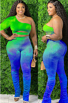 The Streets Cotton Tie Dye Ruffle Flare Leg Pants Pants SetsCCN1824