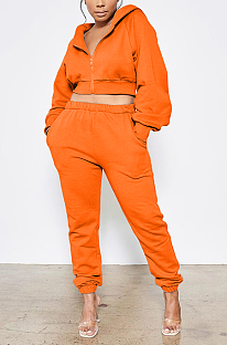 Casual Sporty Sexy Long Sleeve Hoodie Sweat Pants Sets ARM8228