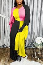 فستان كاجوال جميل بألوان متباينة MTY6321