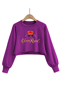 Casual Cute Simplee Animal Graphic Cartoon Graphic Long Sleeve Round Neck Tee Top SDD9439