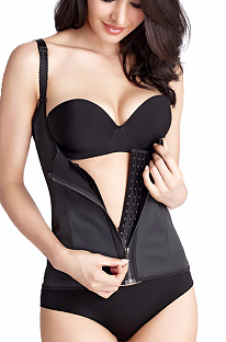 Sexy latex toning suit waist trainer corset MNS1701
