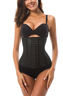 Sexy latex toning suit waist trainer corset MNS1526