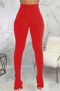 Casual Modest Simplee Elastic Waist High Waist Skinny Pants SMR9714