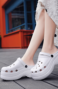 Casual Modest Simplee Hollow Out Multi Hole Shoes KDR18033