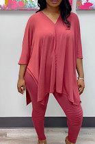 Polyester Long Sleeve Long Pants Pure Color Sets WA7080