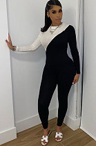 Casual Polyester Long Sleeve Mid Waist  Jumpsuit  WA7087