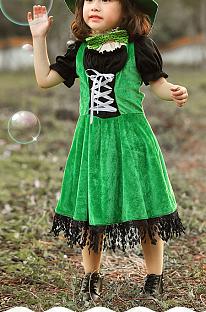 Костюмы на Хеллоуин для девочки, костюмы на День Святого Патрика для ирландских гоблинов PS3533