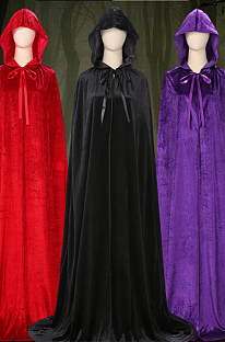 Halloween costume adult witches cape witches black red purple cape of death Little Red Riding Hood magic cape PS7817