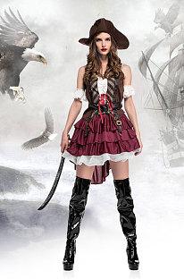 Полиэстер Сплошной костюм ко Дню всех святых The Game Uniform Midi Dress PS1142