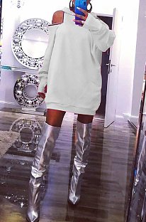 Casual Sporty Simplee Long Sleeve Off Shoulder Mini Dress HM5378