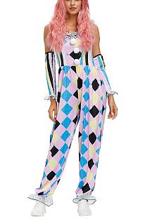 Хэллоуин клоун Париж костюм костюм клоуна бриллиант и розовый цирковой сценический костюм PS4568