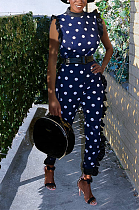 Casual fashion spotted jumpsuit SMY8009