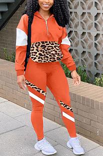 Modest Sporty Simplee Leopard Long Sleeve Pants Sets YZL814