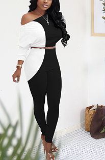 Casual Sexy Simplee Batwing Sleeve Off Shoulder Skinny Pants Sets WXY8805