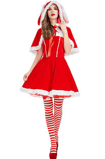 Christmas Rabbit Costume Wool Shawls Short Skirt Stage Clothing PS4517
