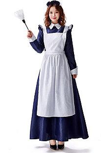 Court Maid Costume Dress Shirt Collar Long SleeveParty Dress  PS3503