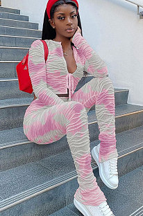 عارضة أزياء القطن جاكار التعادل صبغ حزام معقود السراويل مجموعات W8329
