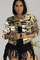 Casaco de manga comprida em camuflagem de cor leopardo YYZ642