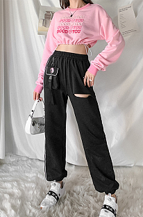 Casual high-waisted print halon trousers FWD20P0006