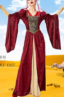 Traditionele Arabische Midden-Oosterse luxe bruidsjurkjurk PS1587