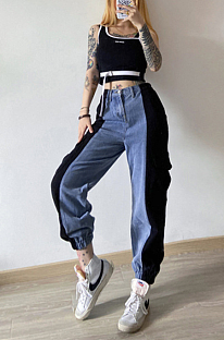 Casual high-waisted corset jeans  FWD20P09052