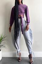 Casual Sporty Simplee Knot Side Taille élastique Pantalon de survêtement taille haute GL6303
