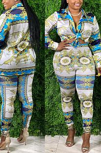 Casual kostuum met print YZ2279