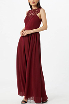 Vintage Elegant Sexy Sleeveless Hollow Out Long Dress CCY8682