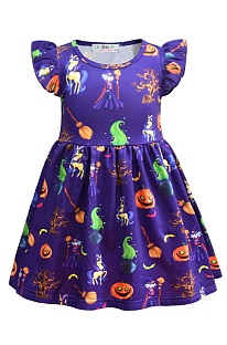 Halloween Costume Girl's Pumpkin Dress YBK39143