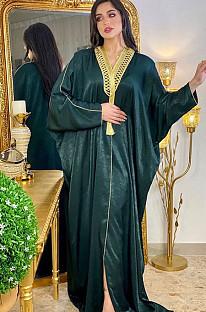 Goldene Details Loses Dubai & muslimisches Kleid