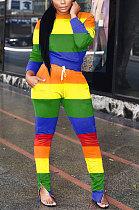 Ensembles de pantalons décontractés à glissière à l'ourlet de pantalon de couleur de rue de mode LIN8820
