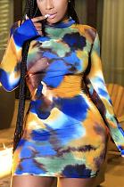 فستان كاجوال متواضع برباط وأكمام طويلة وياقة دائرية ED8297