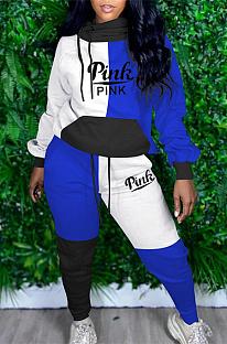 Casual preppy sportieve lange mouw gespleten hoodie lange broek sets MTY6666
