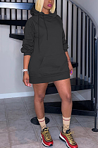 فستان متوسط الطول بقلنسوة رياضي بأكمام طويلة لطيف بريبي MTY6372