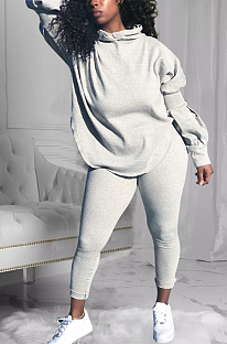 Casual Sporty Simplee Long Sleeve Hoodie Long Pants Sets LM1051