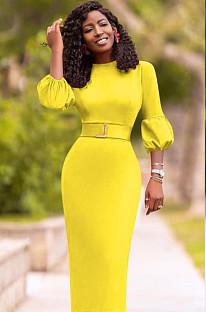 Sexy Slim Laternenärmel Langes Kleid YMT6169