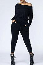 Женская одежда Чистый цвет Модный повседневный комбинезон AWL5817