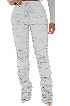 Casual Tight Carry Buttock Ruffle Sweat Pants YR8028