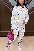 Casual Cotton Blend Pop Art Print Long Sleeve Hoodie Long Pants LJJ6026