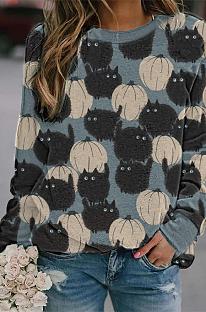 Повседневные свитера с длинным рукавом и круглым вырезом Simplee MD387